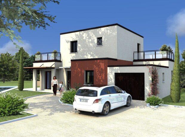 Découvrir le plan de maison Aubépine – toit plat